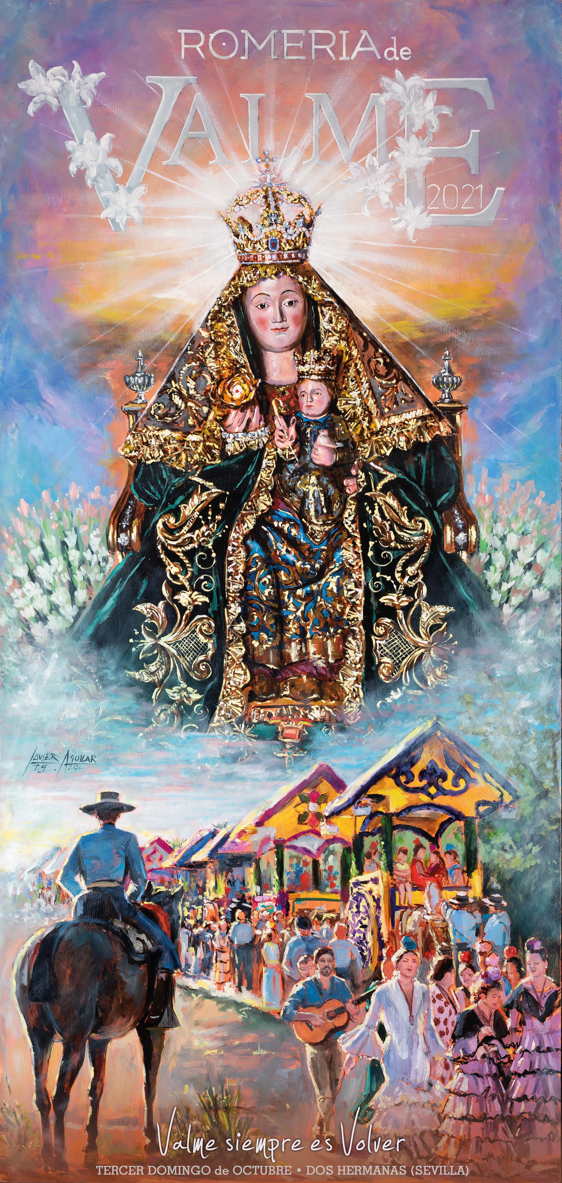 Una estampa romera, llena de luz y color, como cartel anunciador de los actos y cultos en honor de la Virgen de Valme de 2021